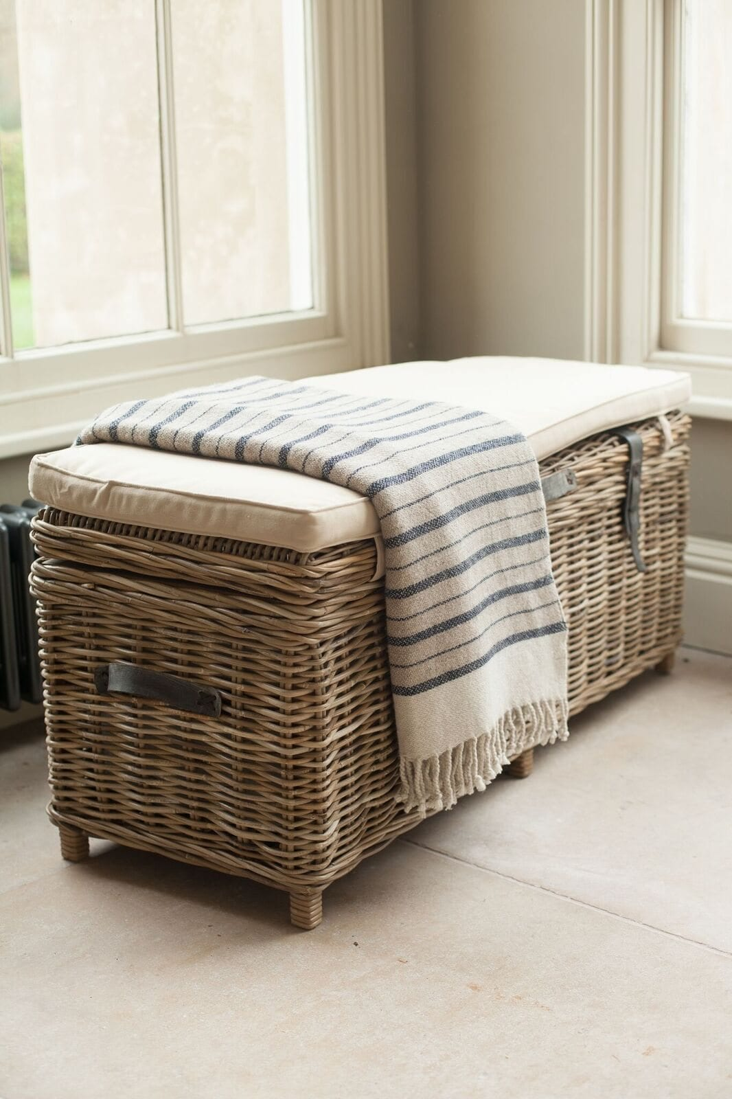 Picture of: Rattan Storage Bench Willow Lifestyle