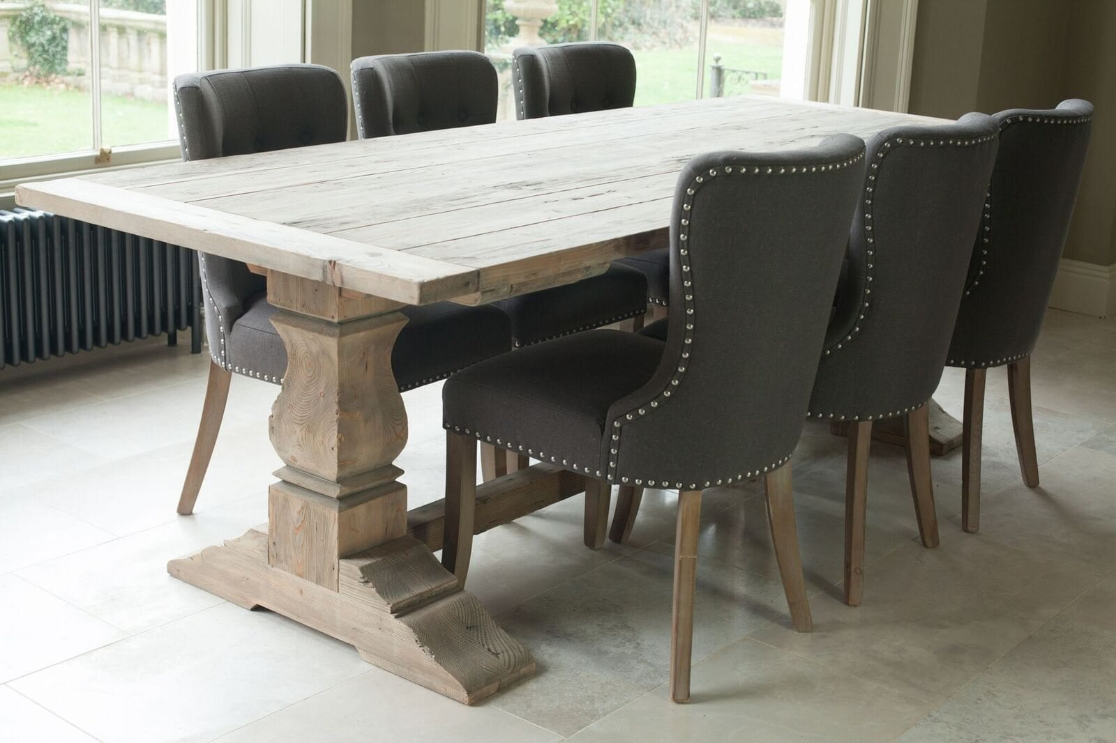 Grove Reclaimed Pine Refectory Table Willow Lifestyle