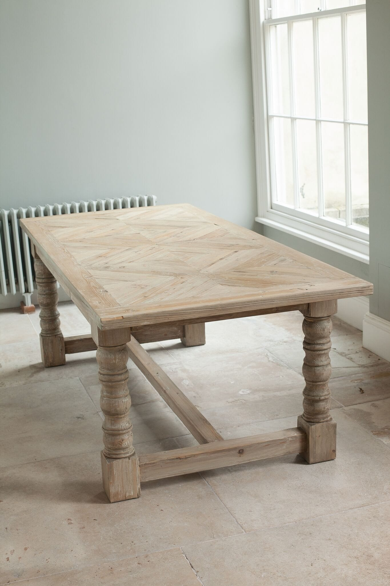 Milford Parquet Natural Refectory Table
