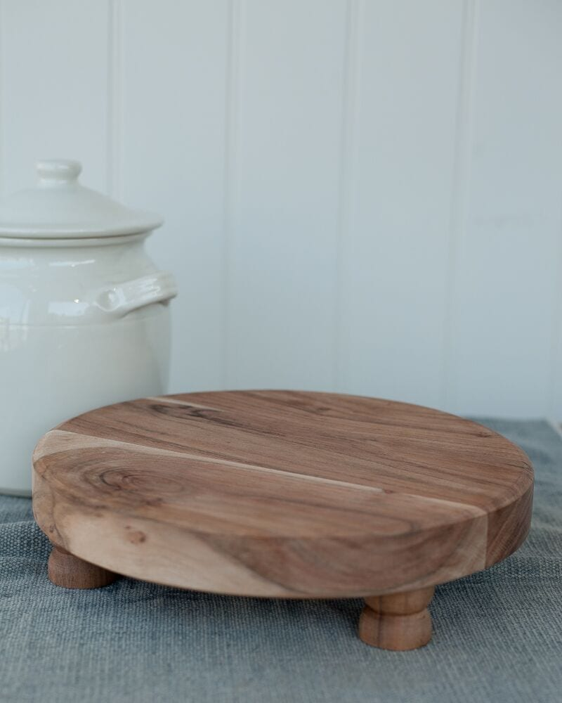 Round Wooden Chopping Block