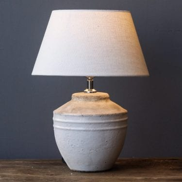 Small Antique White Lamp home accessories
