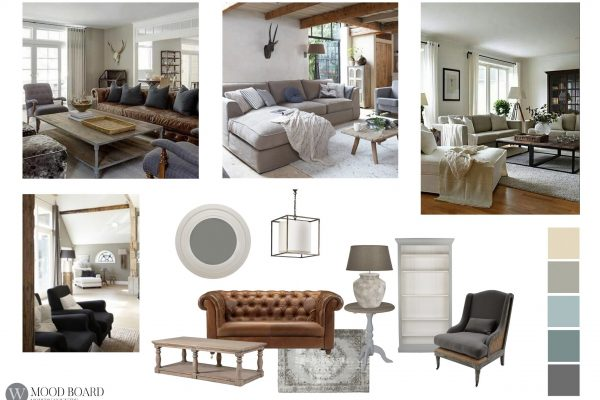 Mood Board Modern Country