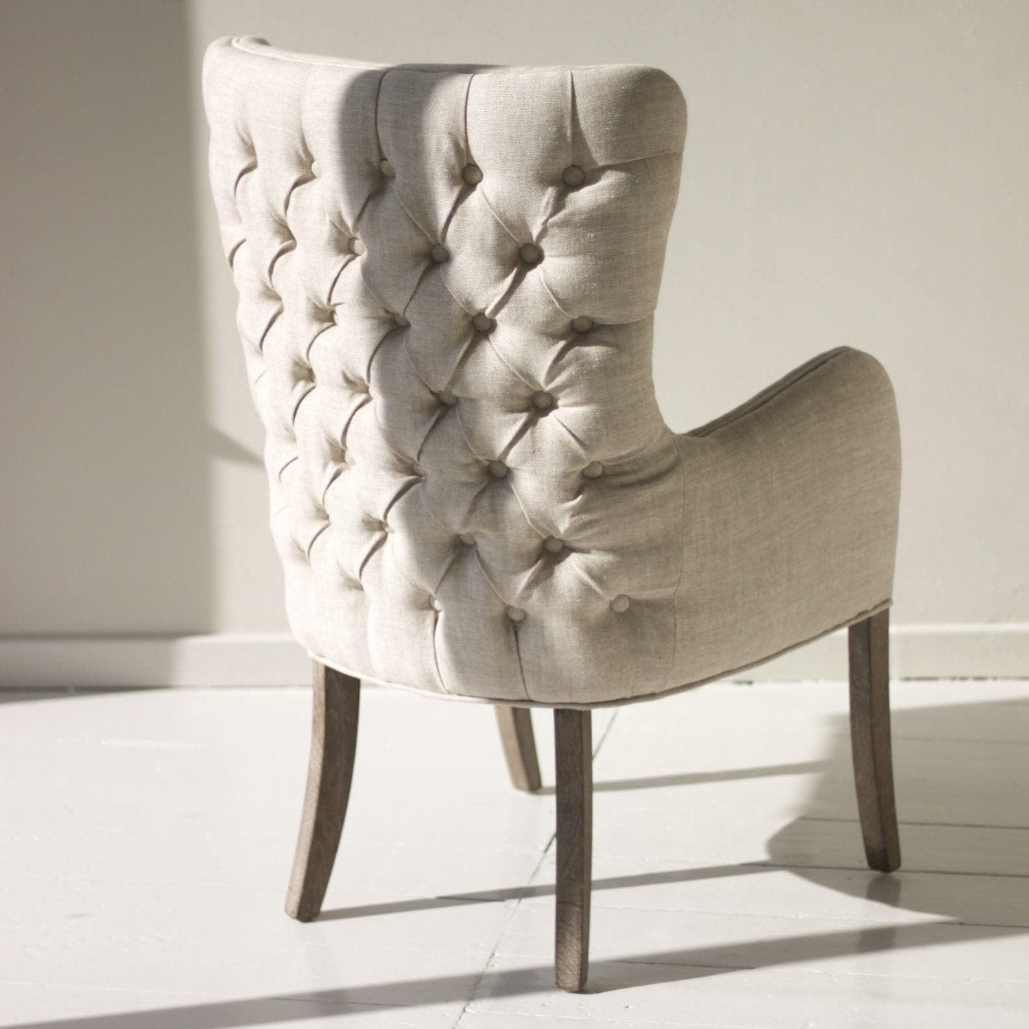 Windsor Button Back Natural Occasional Chair