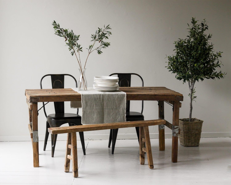Kolkata rustic dining table furniture willow