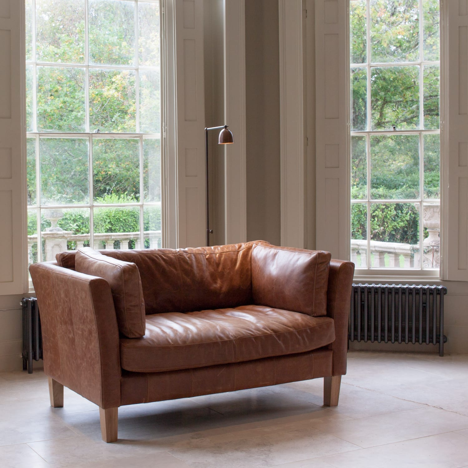 Picture of: Croft Italian Tan Leather Two Seater Sofa Sofa Furniture Willow Lifestyle