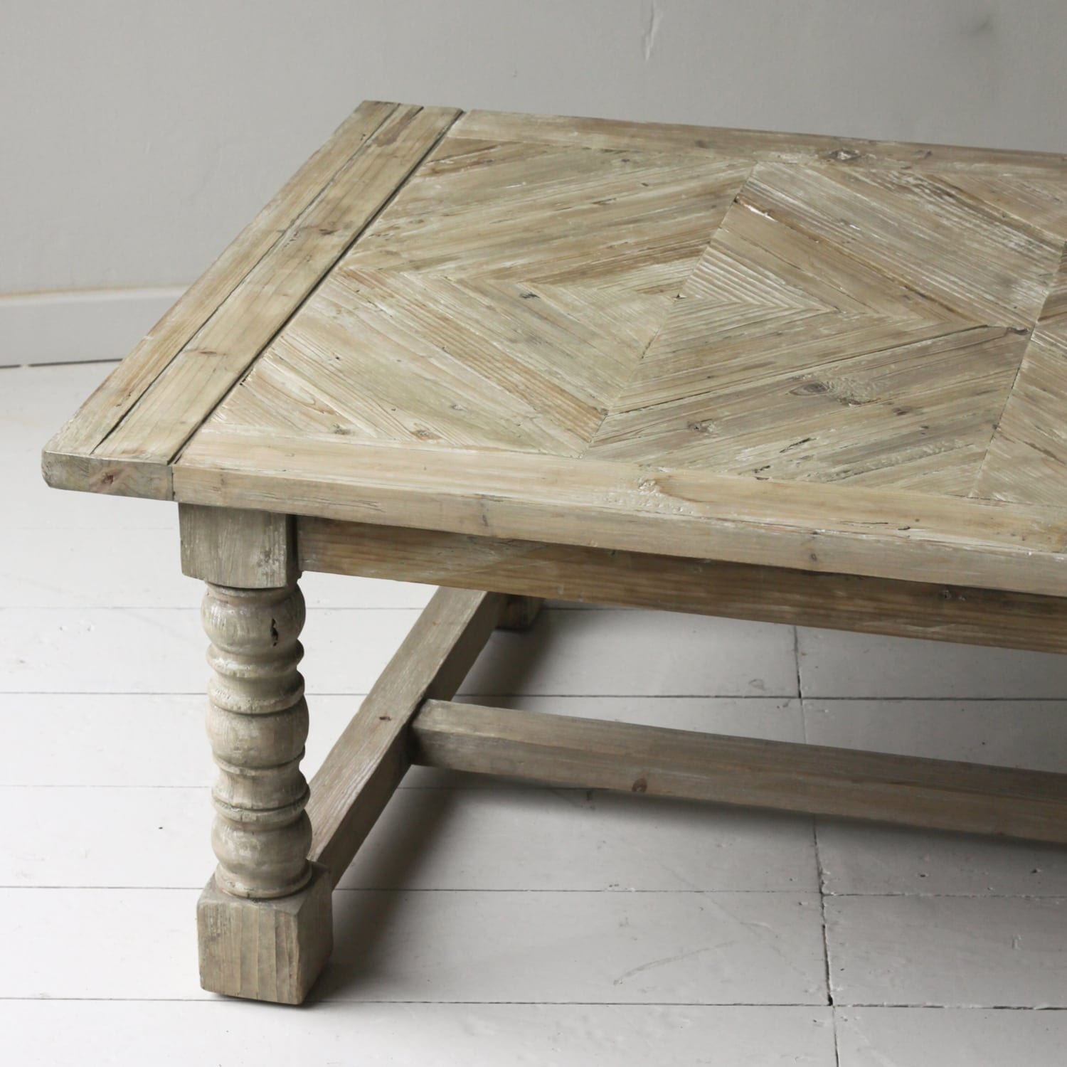Milford Reclaimed Parquet Top Coffee Table