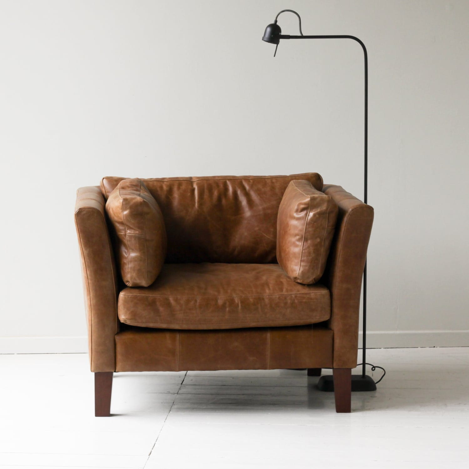 Croft Italian Tan Leather Armchair