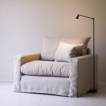 beautiful natural linen sofa