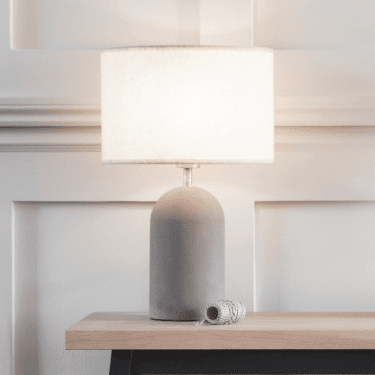 """Concrete Bullet Table Lamp"""