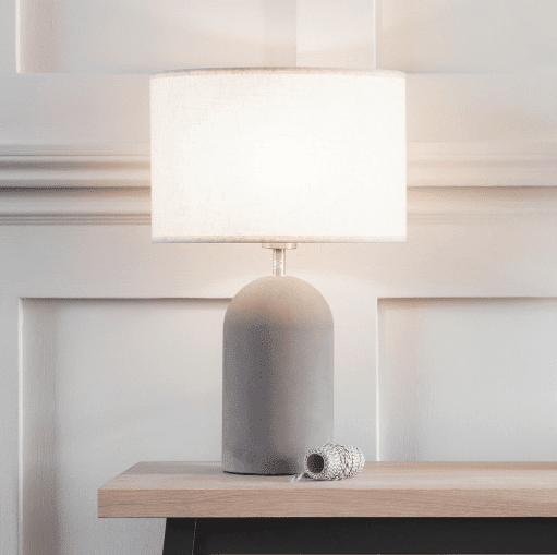 """""""Concrete Bullet Table Lamp"""""""