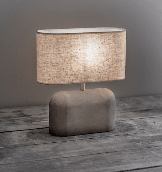 """Slab Table Lamp Concrete"""