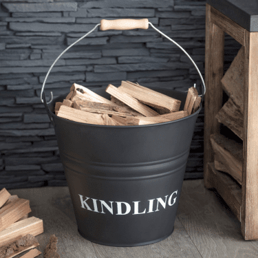 """Kindling Bucket Carbon Steel"""