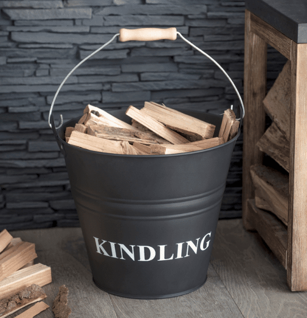 """Kindling Bucket Carbon Steel"""