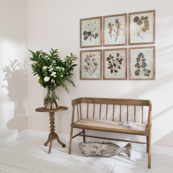 "Set Of Six Brooklyn Pale ""Frame Antiqued Leaf Prints"""
