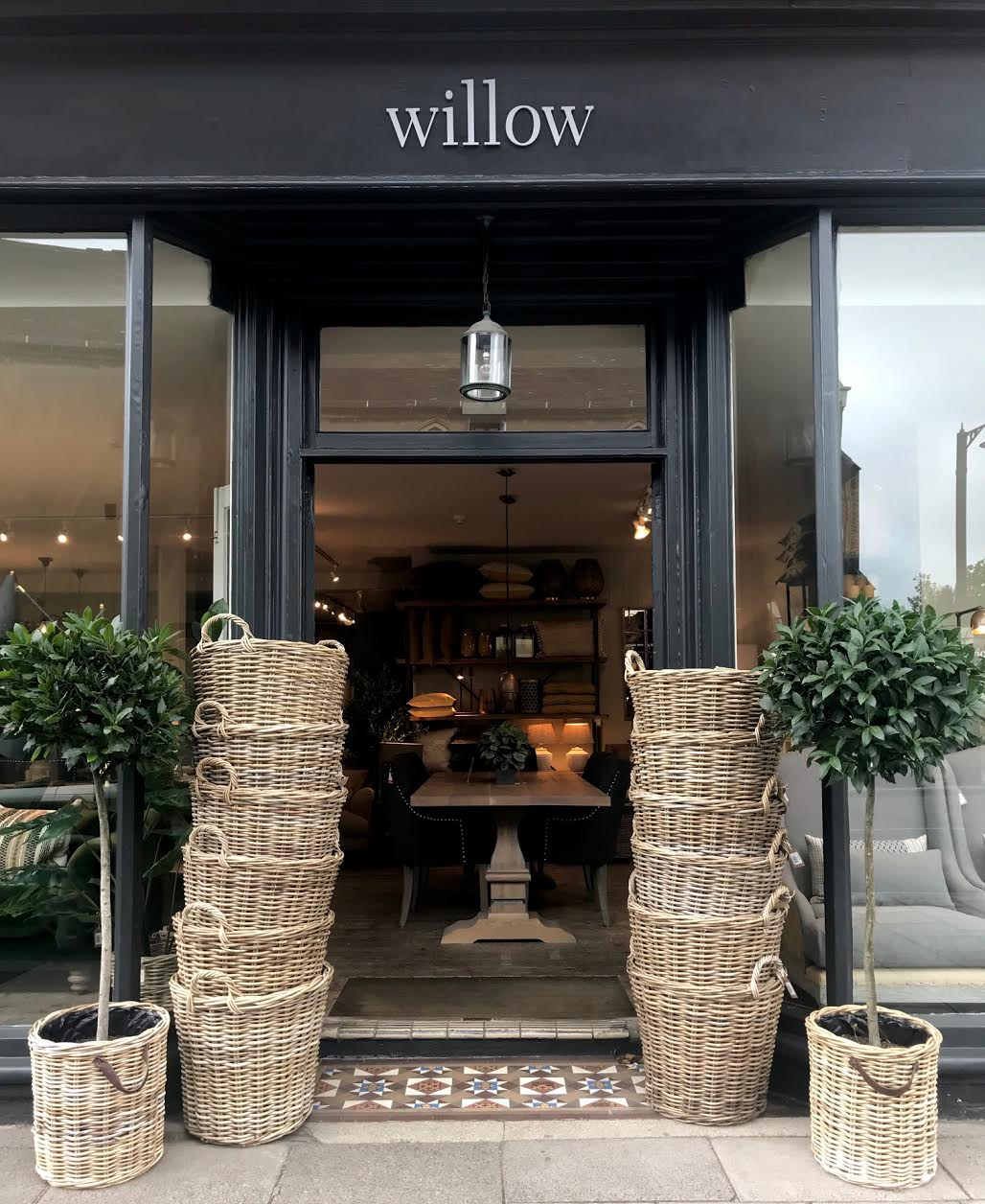 ``our shop and lovely baskets at the entrance``