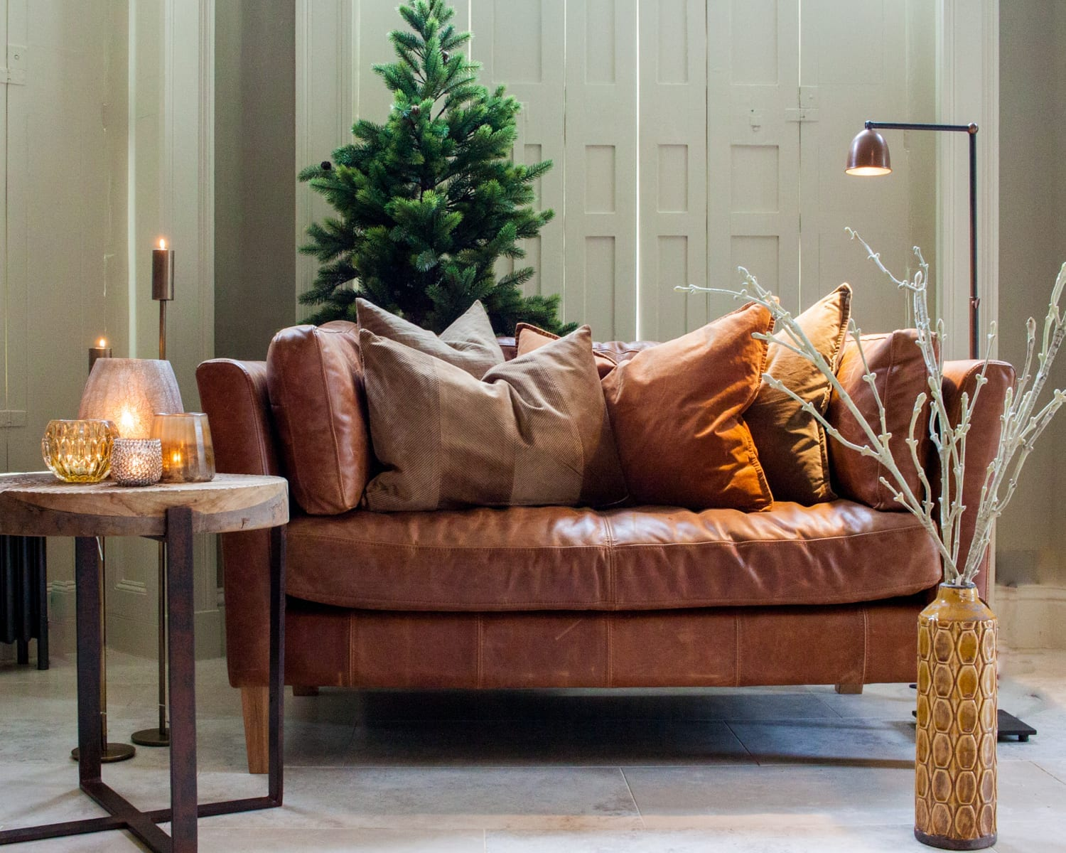 Christmas-croft-two-seater-leather-sofa