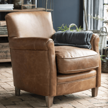 brown leather armchair willow lifestyle
