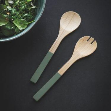 Bamboo Salad Servers
