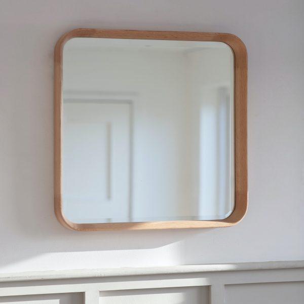 Oak Square Mirror