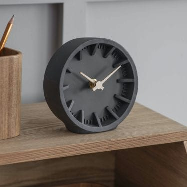 Raven Polyresin Desk Clock