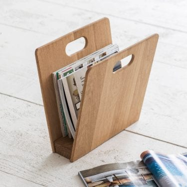 Raw Oak Magazine Rack
