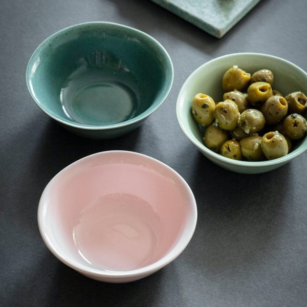 Set of 3 Ceramic Nibble Bowls
