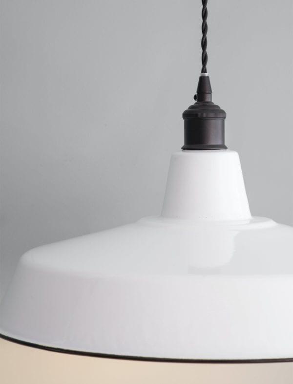 Wide Enamel Pendant Light (1)