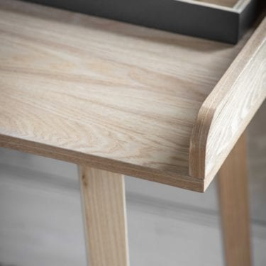 Ash Desk with Storage