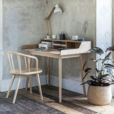 Ash Desk with Storage