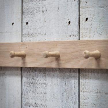 Oak Peg Rail