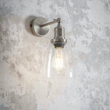 Satin Nickel Dome Wall Light