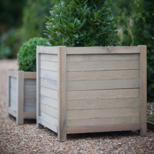 Square Wooden Planter